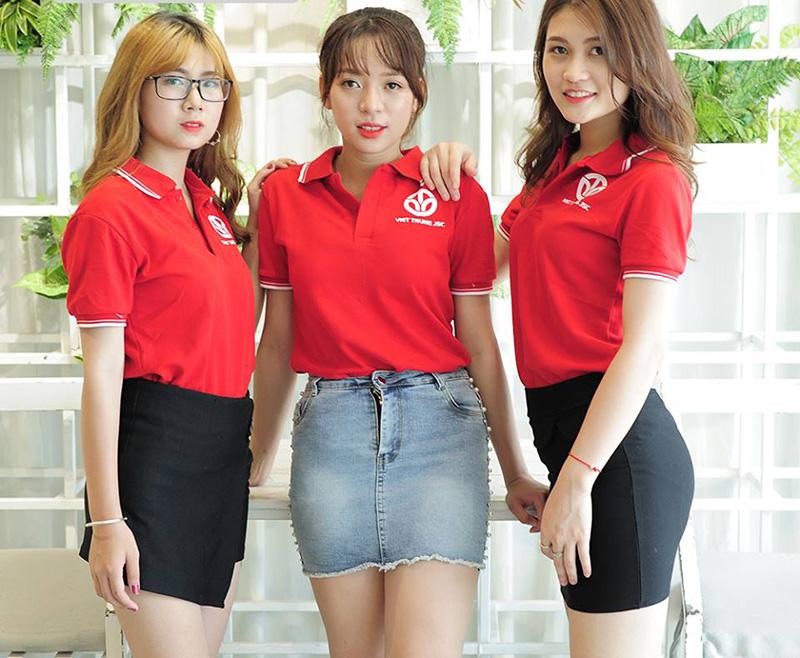 áo thun đồng phục giá rẻ cho nữ nhân viên